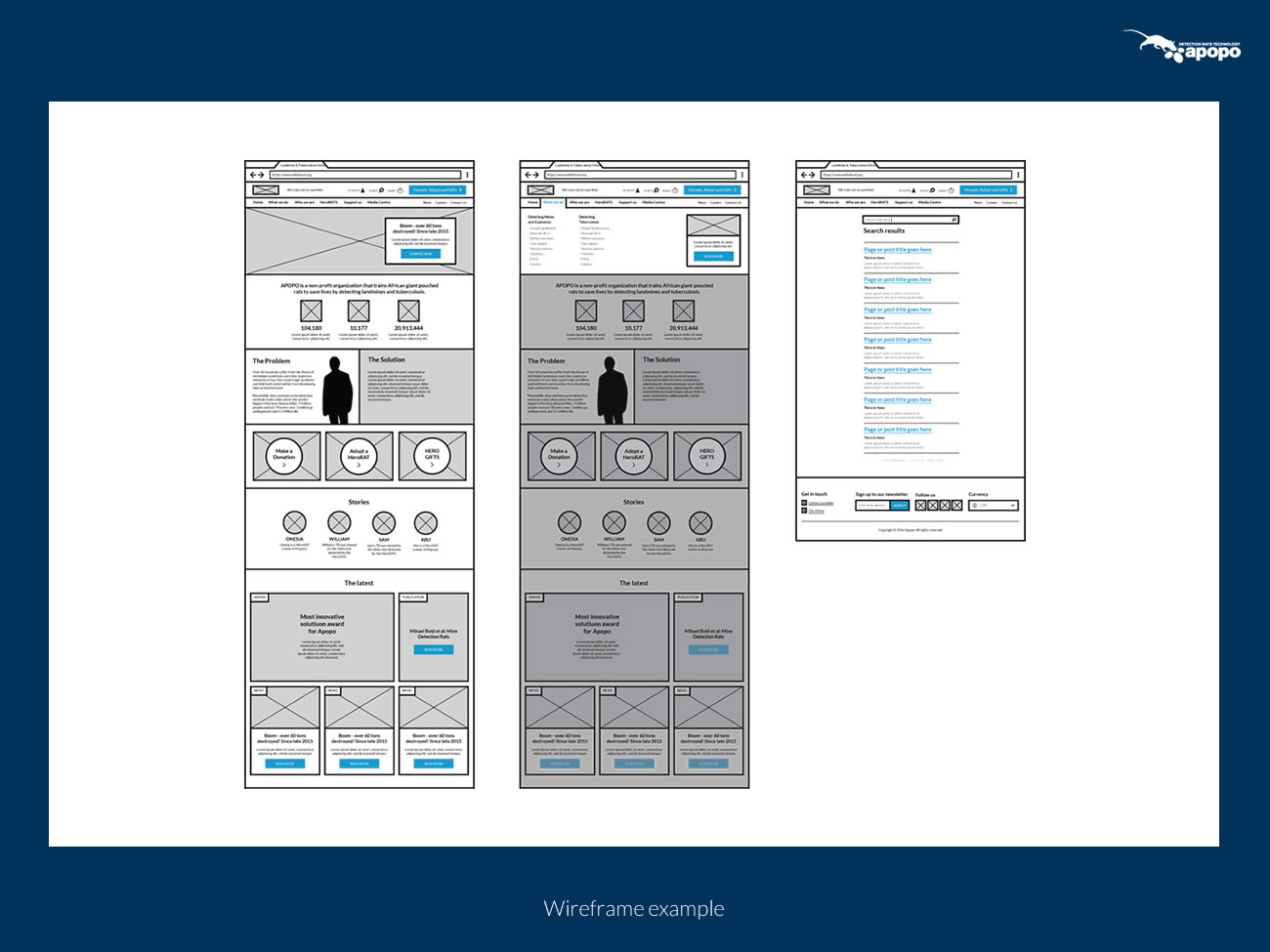 Picture of desktop wireframes