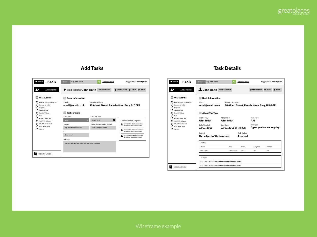Picture of dashboard wireframes