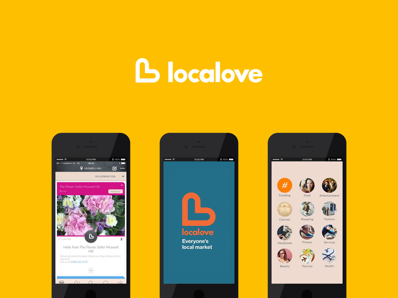 Picture of localove iOS app visuals